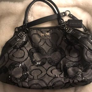 Coach: Sophia Madison Sequined Satchel